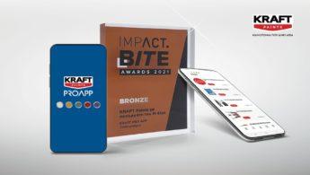 Η KRAFT Paints βραβεύθηκε με Bronze Award στα Impact Bite Awards 2021
